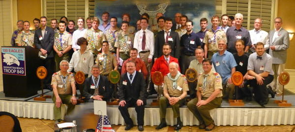 40 Eagles Scouts and 5 Scoutmasters
